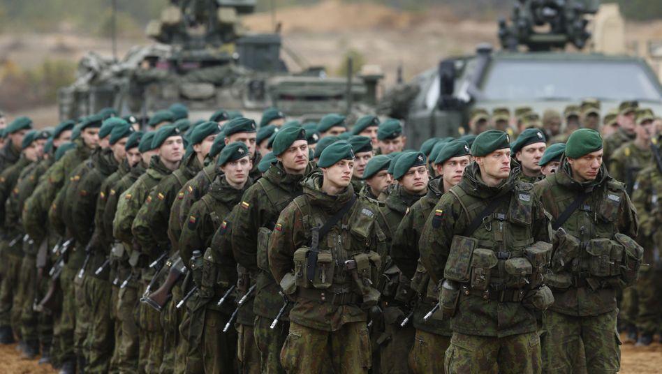 Litauische Soldaten: Angst vor einem Einmarsch Russlands