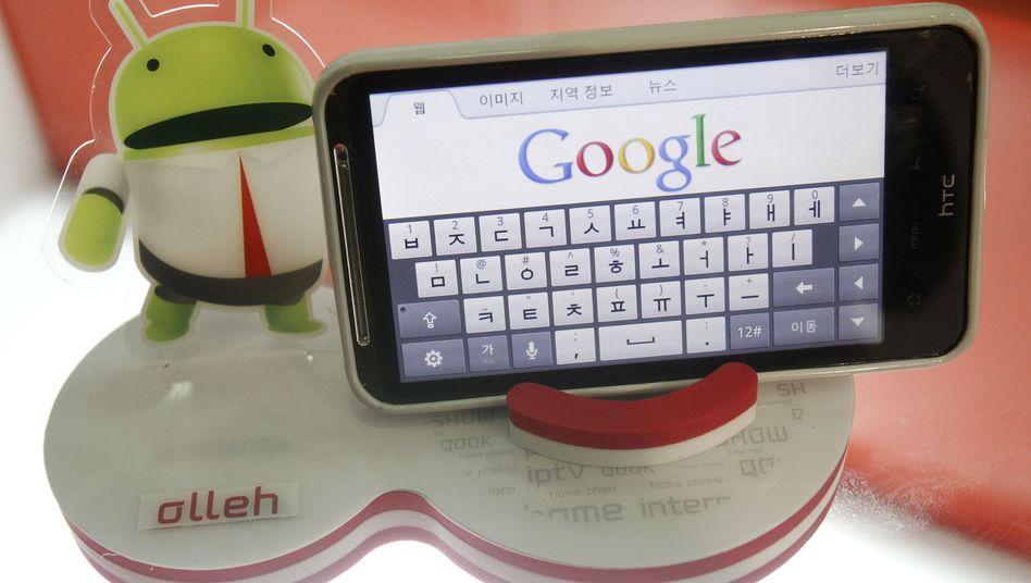 Android-Handy in Südkorea (Symbolbild): Versteckes Programm übermittelte Daten