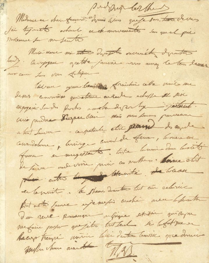Brief von Napoleon an seine Frau Josephine, geschrieben im Juli 1804