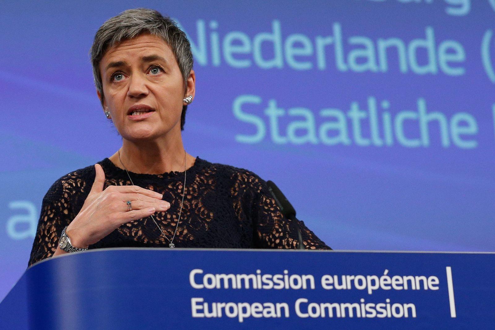 EU Competition Commissioner Margrethe Vestager presser