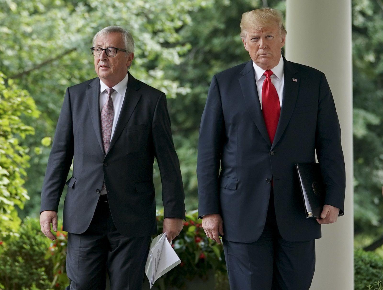 Donald Trump Jean-Claude Juncker