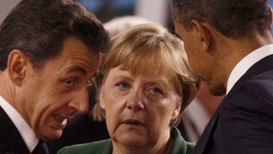 """Sarkozy, Merkel und Obama auf dem G-20-Gipfel: Cannes als """"positiver Elektroschock"""""""