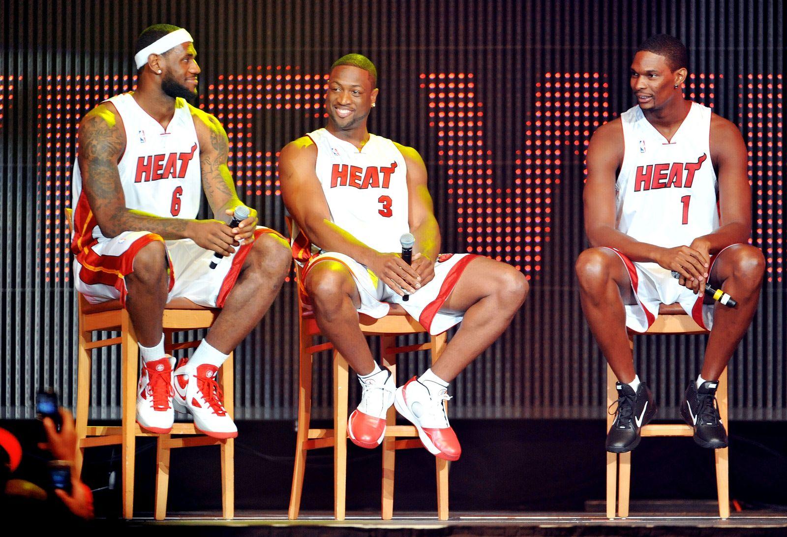 NBA/ Heat/ James/ Wade/ Bosh