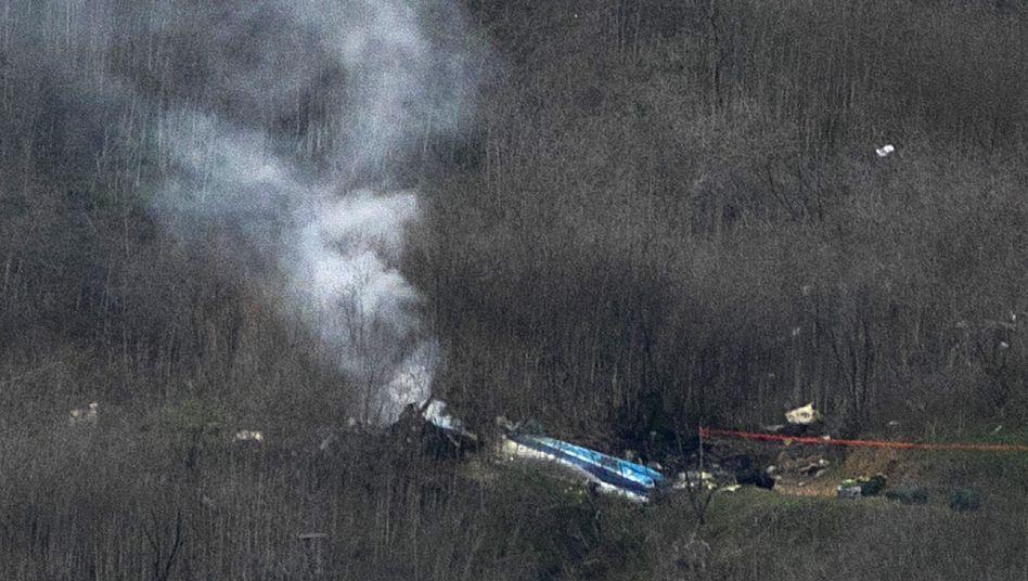 Der Helikopter war in 730 Metern Höhe im Steigflug mit großer Geschwindigkeit abgestürzt