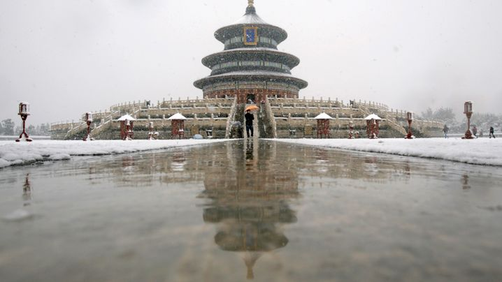 Peking im Schnee: Chinas übereifrige Wettermacher
