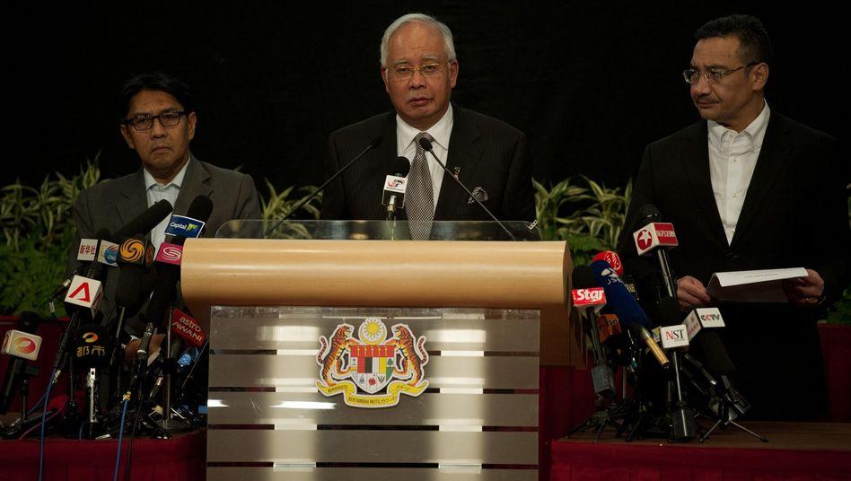 Malaysias Premier Razak: Gewissheit durch ausgewertete Daten