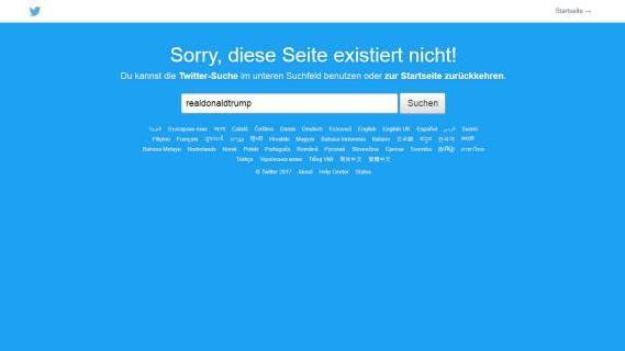 Fehlermeldung bei Twitter