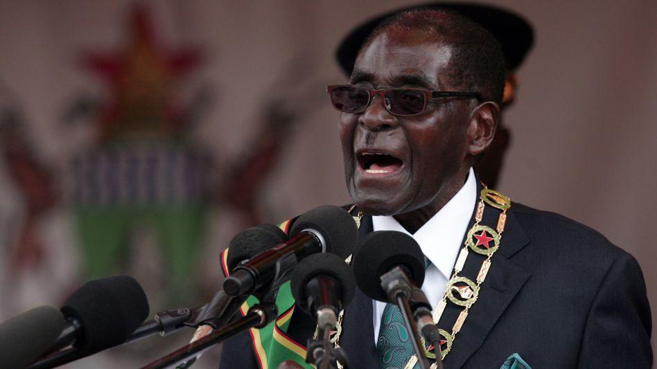 """Simbabwes Staatspräsident Mugabe: """"Überhaupt keine Prinzipien mehr"""""""