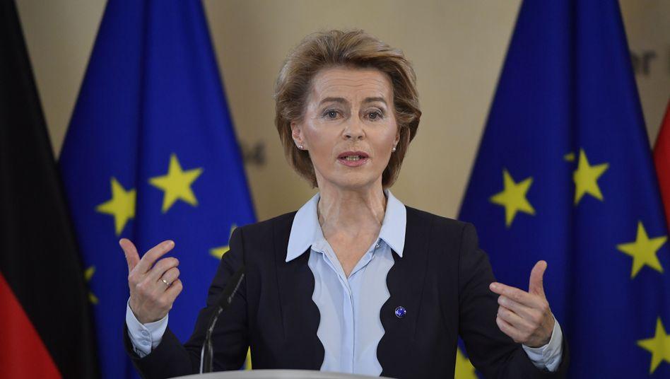 Ursula von der Leyen, Präsidentin der EU-Kommission in Brüssel