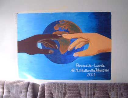 Wandgemälde im Gymnasium Finow