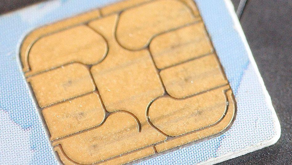 Sim-Karte für ein Handy: Der US-Geheimdienst hört Mobiltelefonate ab