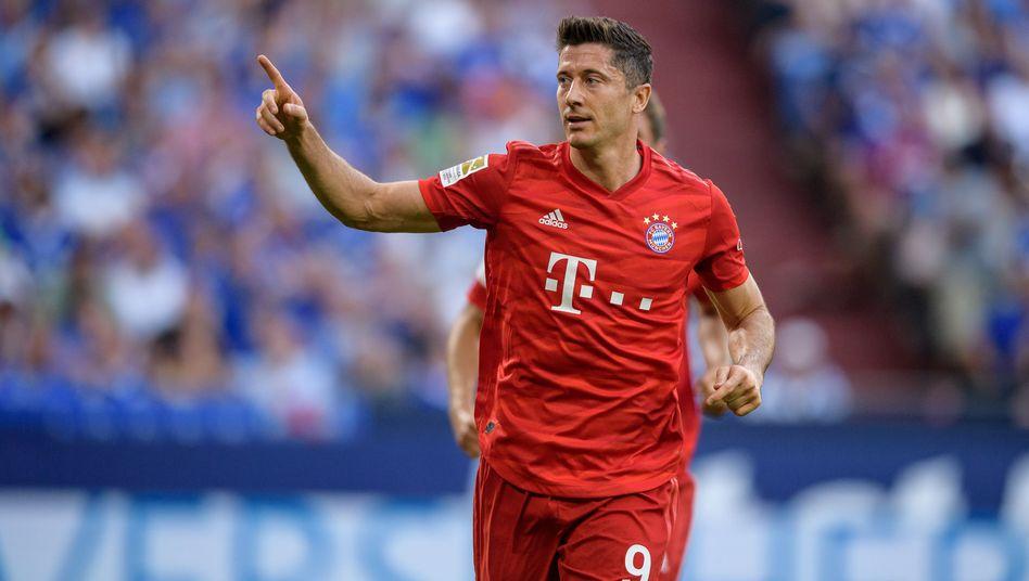 Robert Lewandowski hat bisher alle fünf Bayerntore in der Bundesliga geschossen