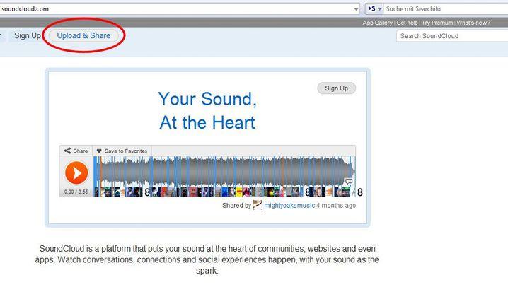 Veröffentlichen bei Soundcloud: Alle Welt soll es erfahren