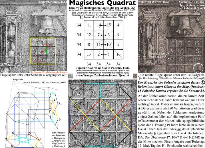 Magisches Quadrat: Dürer als Freimaurer?