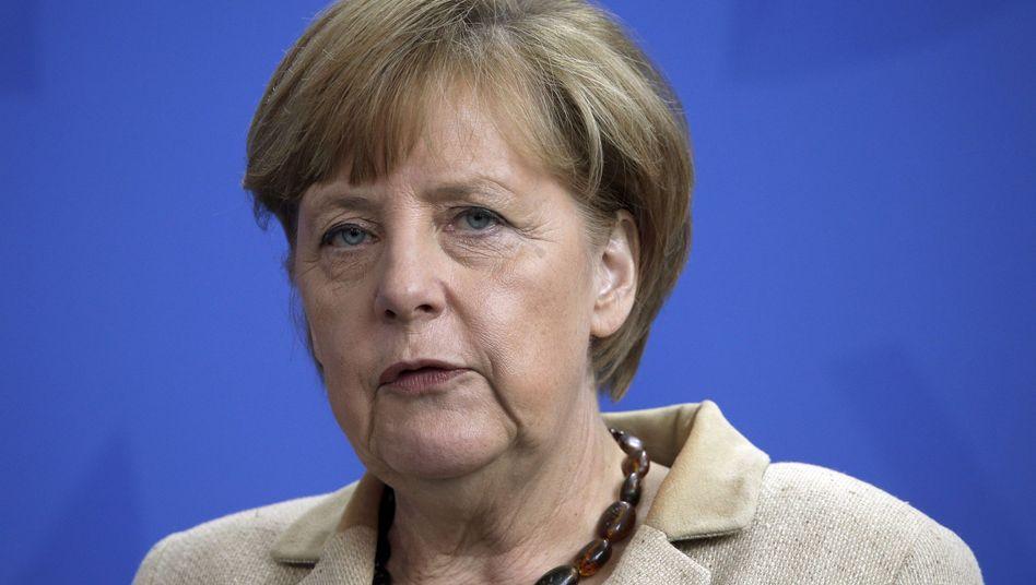 Bundeskanzlerin Merkel in Berlin: Will sich weiter um eine diplomatische Lösung in der Ukraine bemühen