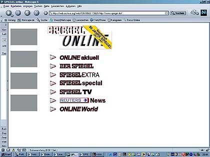 Extrem übersichtlich: Die Wayback-Machine entführt in die Steinzeit des Web-Zeitalters. Was gibt es Schöneres als News von vorgestern (hier 1996)?