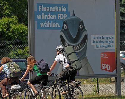 SPD-Europawahlplakat in Dresden: Sorgen um die Wahlbeteiligung