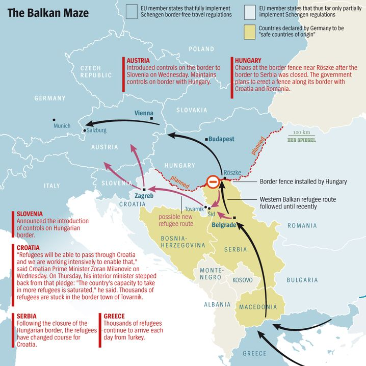Graphic: The growing challenges of getting through the Balkans.