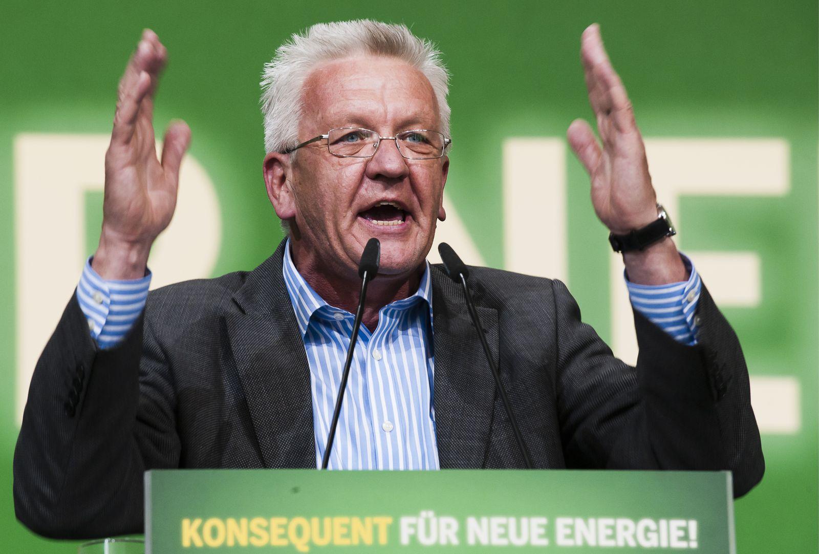 NICHT VERWENDEN Parteien/Energie/Atomkraft/Atom/Parteitage Grüne Kretschmann