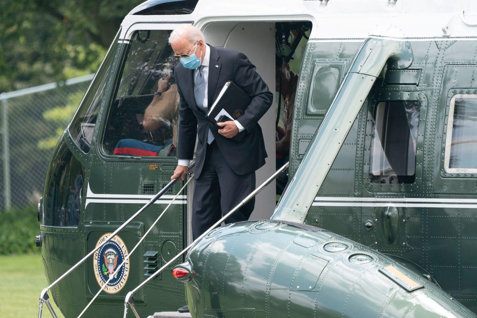 US President Joe Biden returns to the White House