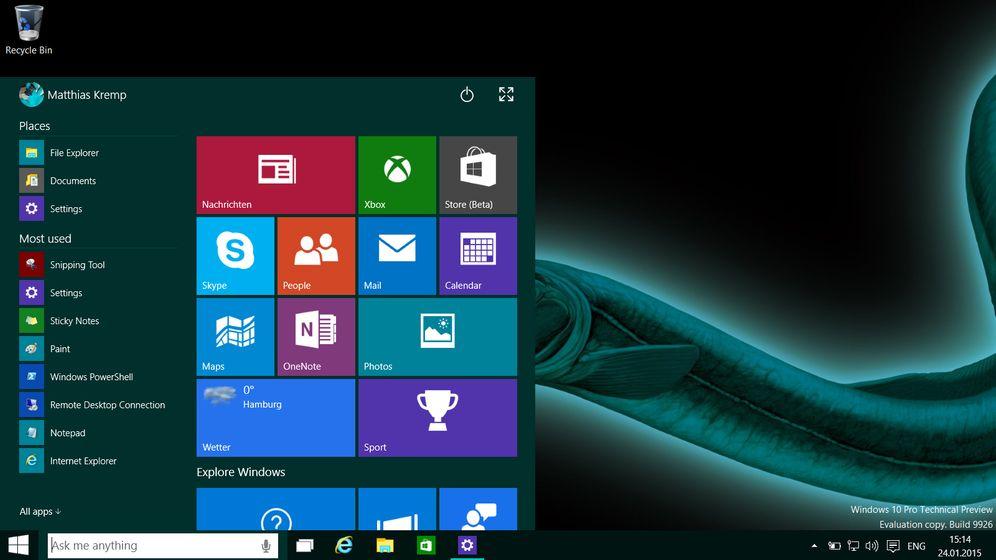 Microsoft-Betriebssystem: Die neue Vorabversion von Windows 10