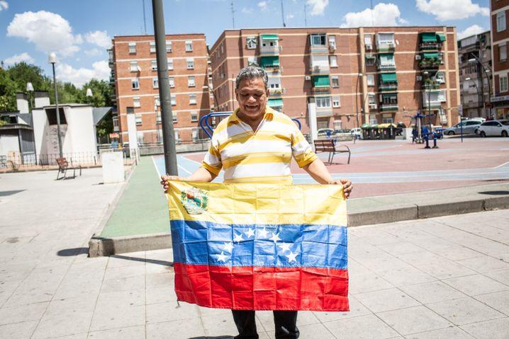 Zuleta always carries a Venezuelan flag around with him.