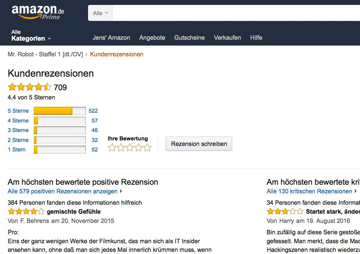 EINMALIGE VERWENDUNG Amazon/ Bewertung SCREENSHOT