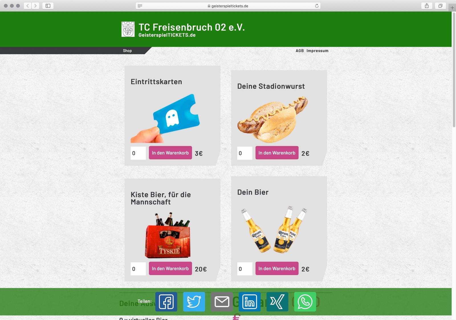 Screenshot geisterspieltickets.de / TC Freisenbruch
