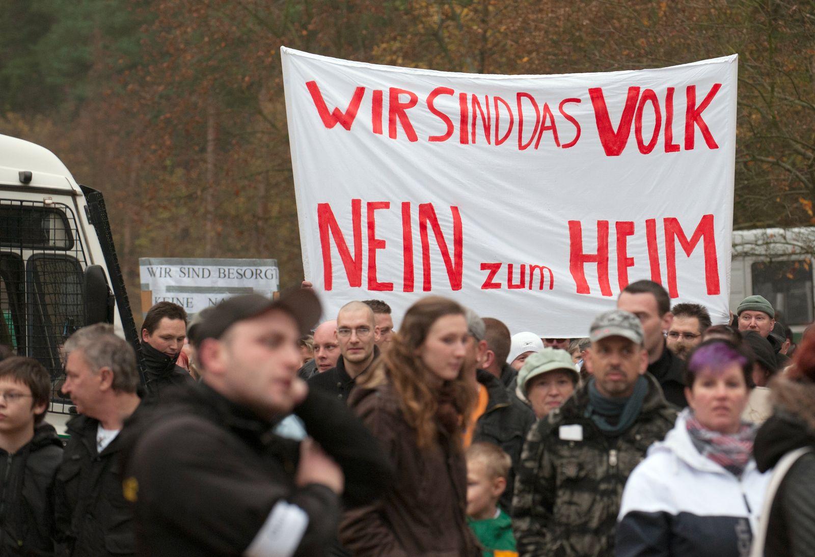 Protest / Flüchtlingsheim