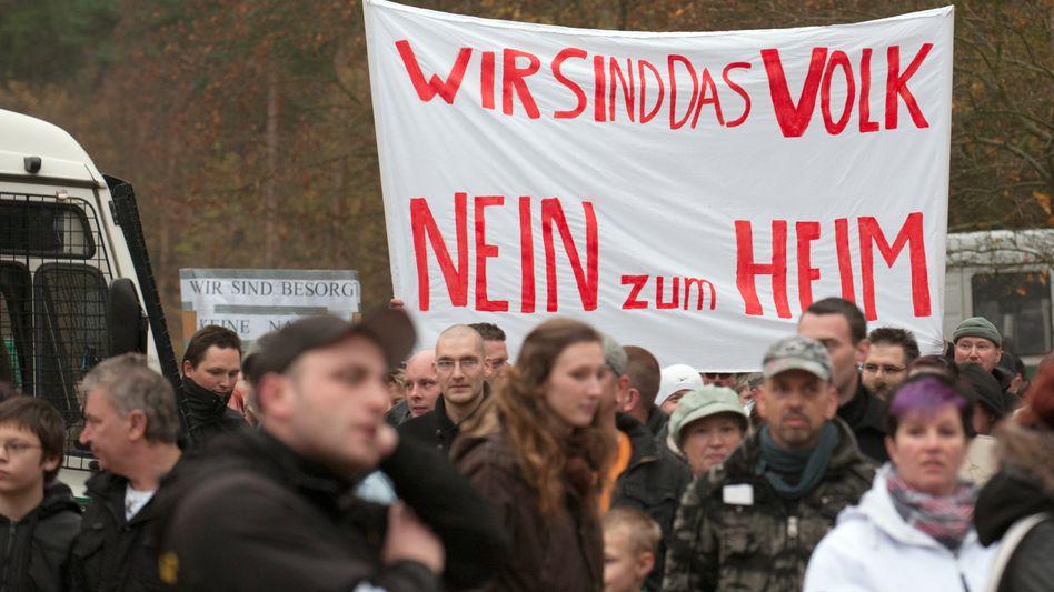 """Berlin-Köpenick: """"Wir sind das Volk - Nein zum Heim"""""""