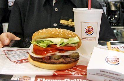 Ein zehntel Facebook-Freund: Hamburger im Restaurant