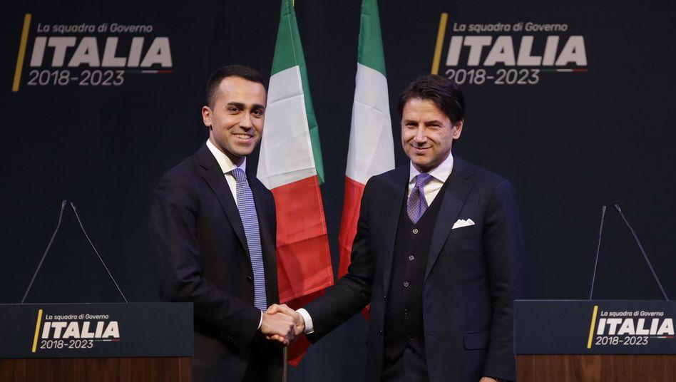 Fünf-Sterne Chef Luigi Di Maio, Giuseppe Conte