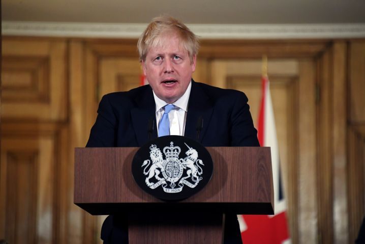 """Premier Boris Johnson: """"Sie müssen zu Hause bleiben"""""""