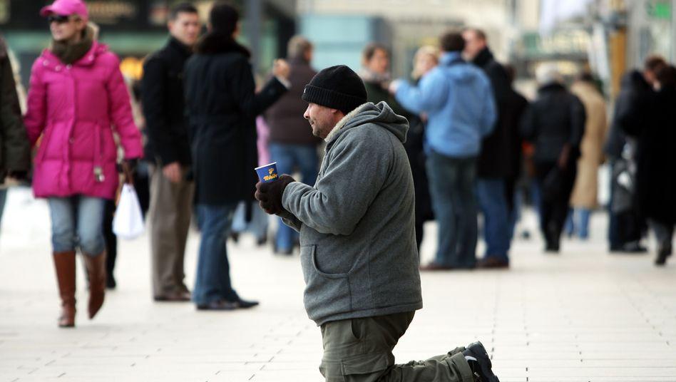 Bettler in der Hamburger Innenstadt: Wachsende Ungleichheit