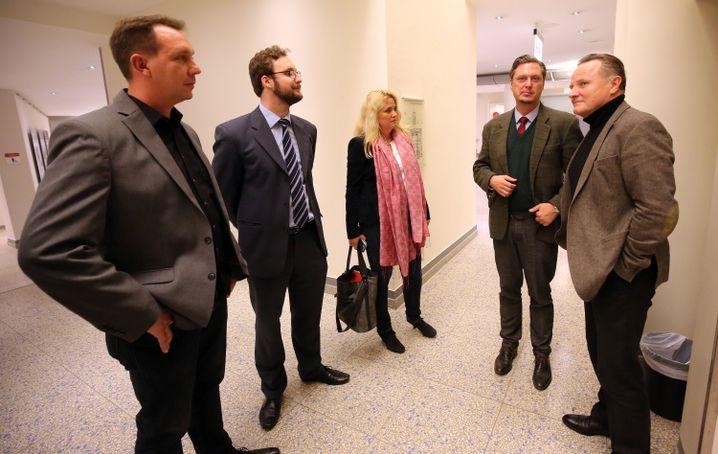 AfD-Politiker Woldeit, Mohr, Brinker, Hansel, Pazderski.