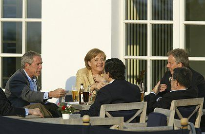 The G-8 leaders seemed comfortable with each other -- and generally in the mood to compromise.