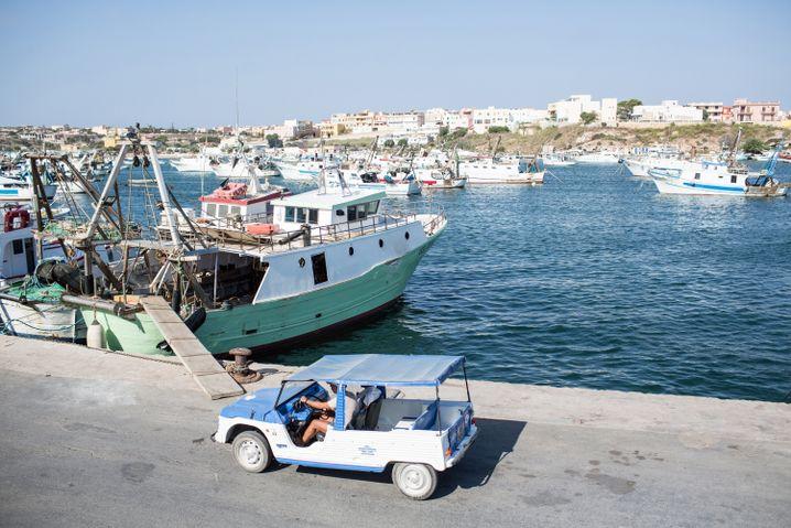 Hafen von Lampedusa