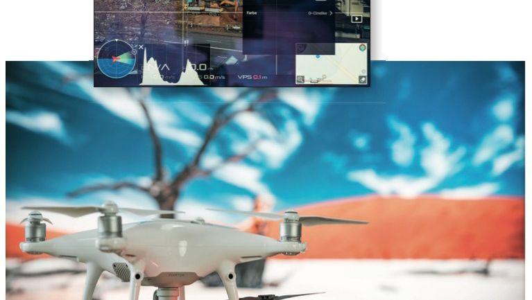 Bei den meisten Drohnen lassen sich über eine Smartphone-App die Aufnahmeparameter für die Fotos festlegen.