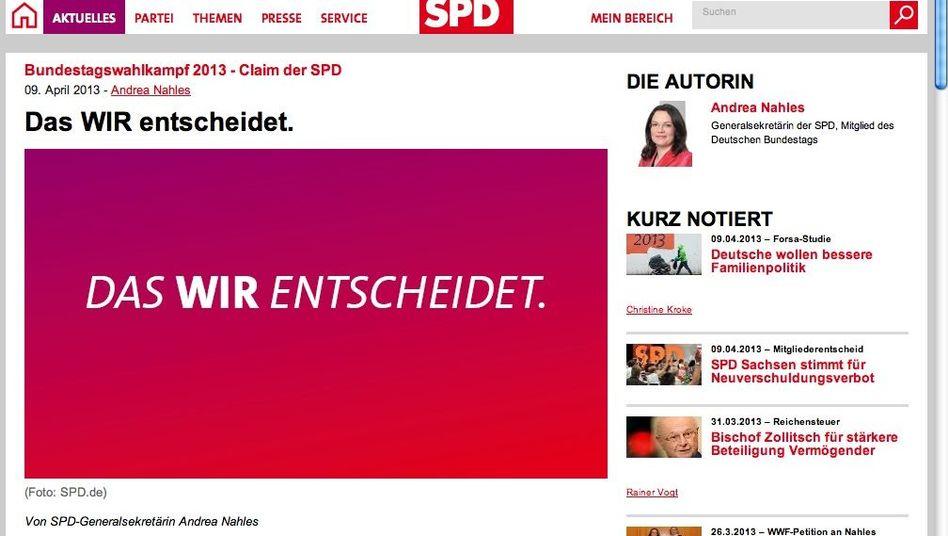 """SPD-Slogan """"Das Wir entscheidet"""": Auch das Motto einer Leiharbeitsfirma"""
