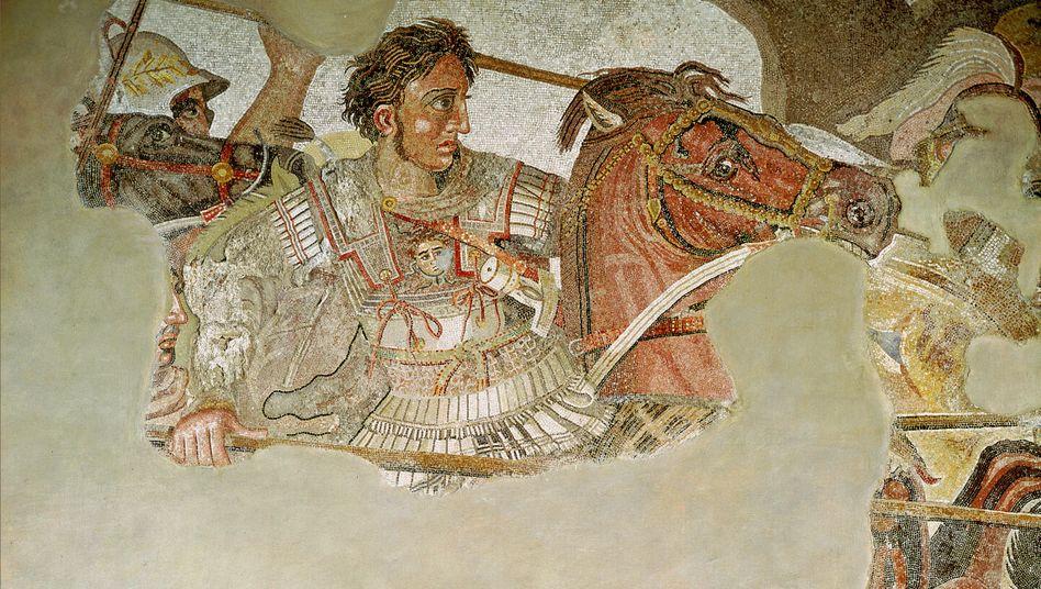 Alexander der Große im Kampf: Stark gestresst, weil eher nicht als Philosoph tätig