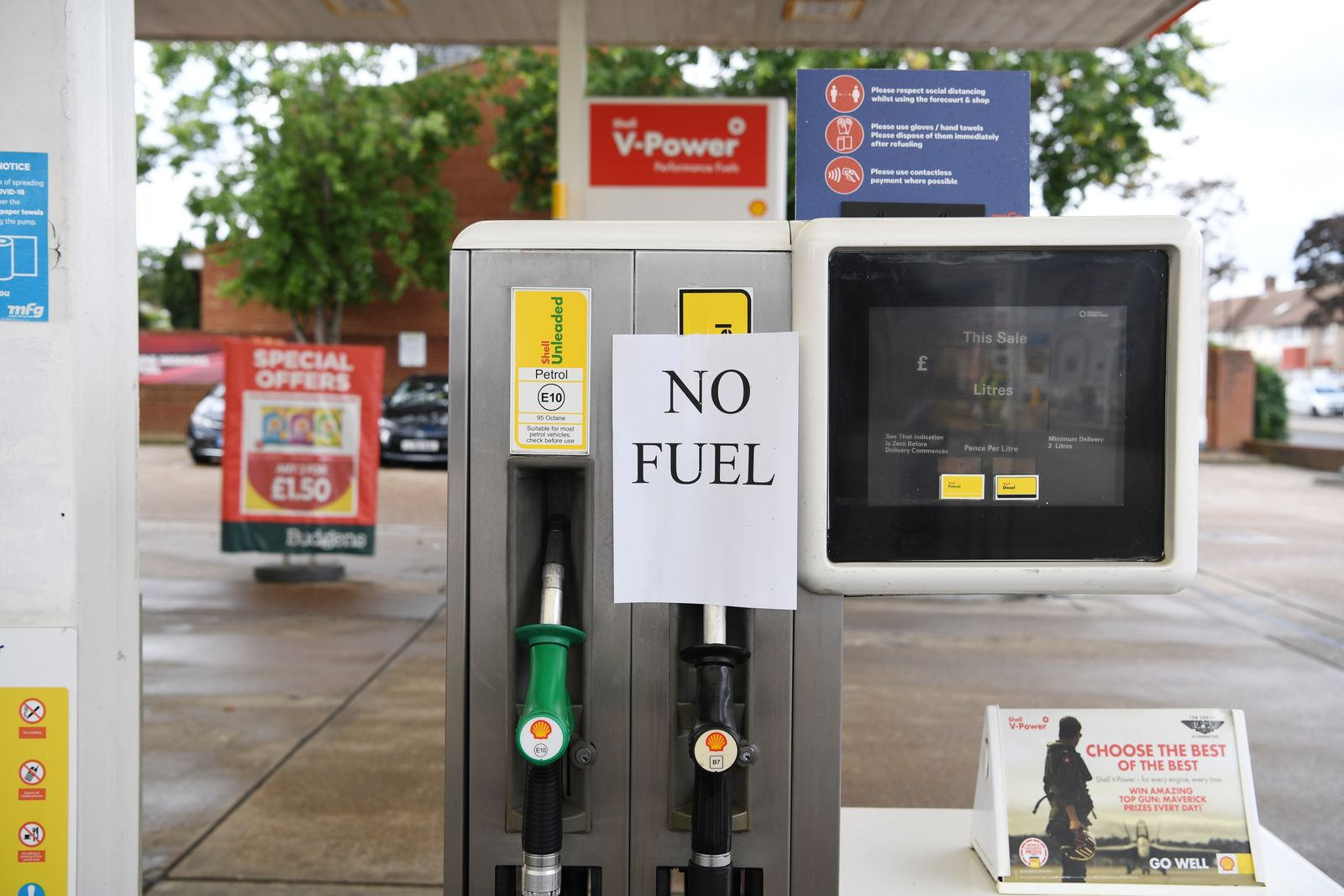 Petrol shortages due to the lack of lorry drivers