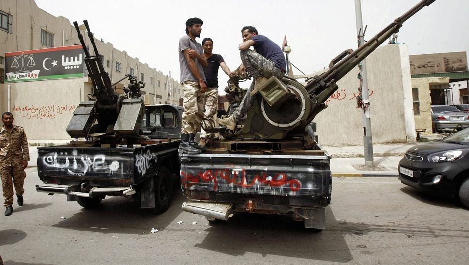 Milizionäre in Tripolis