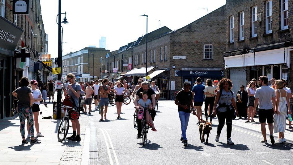 Broadway Market, London, am vergangenen Wochenende: Bei der Finanzhilfe kann man sich an Großbritannien ein Beispiel nehmen