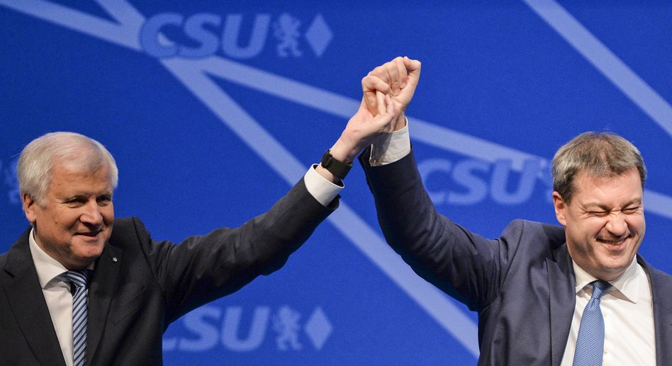 CSU-Politiker Seehofer und Söder