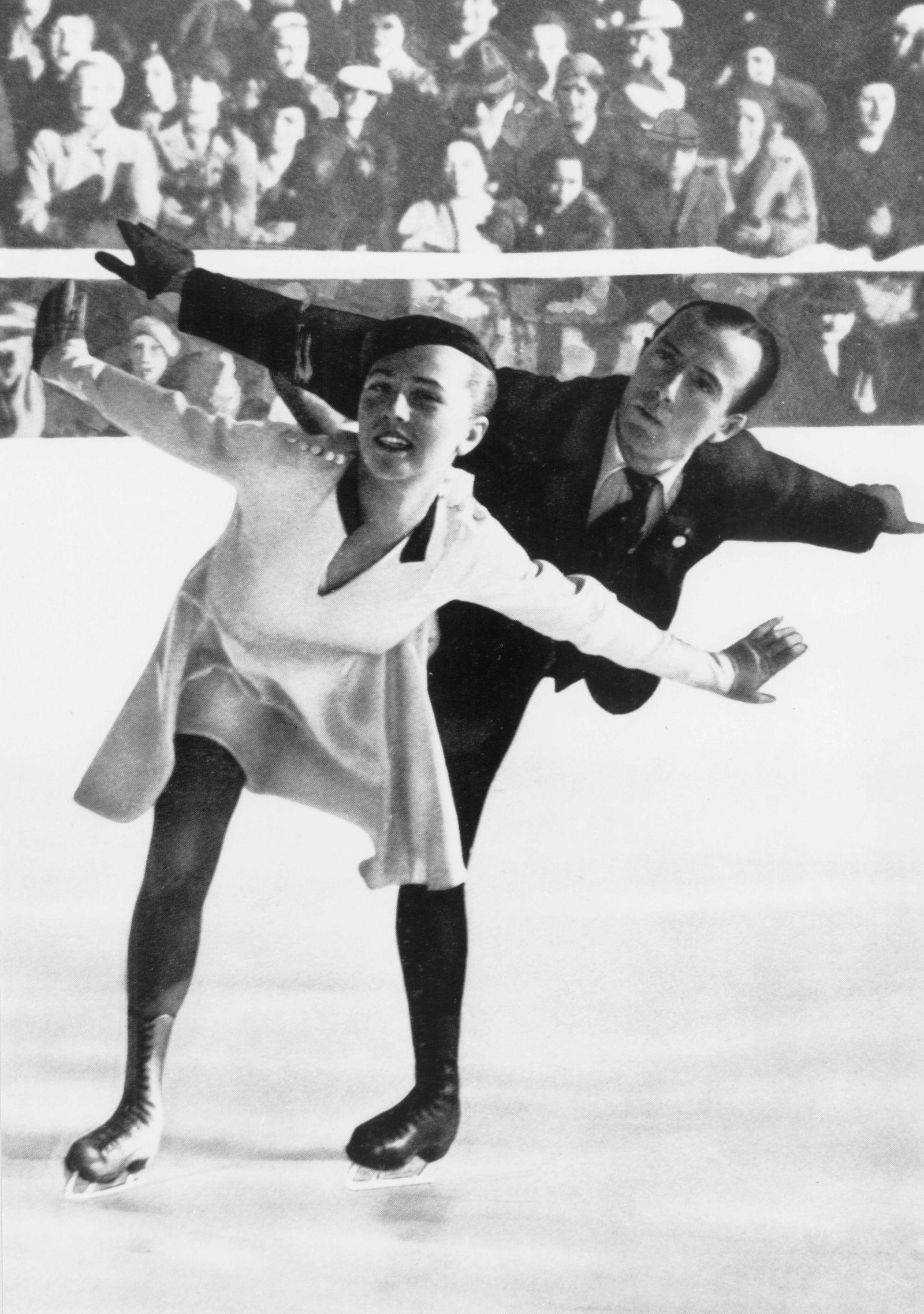 1936 Winter Olympics - Garmisch and Partenkirchen in Bavaria, Germany. Maxie Haible and Ernst Baier who won the gold me