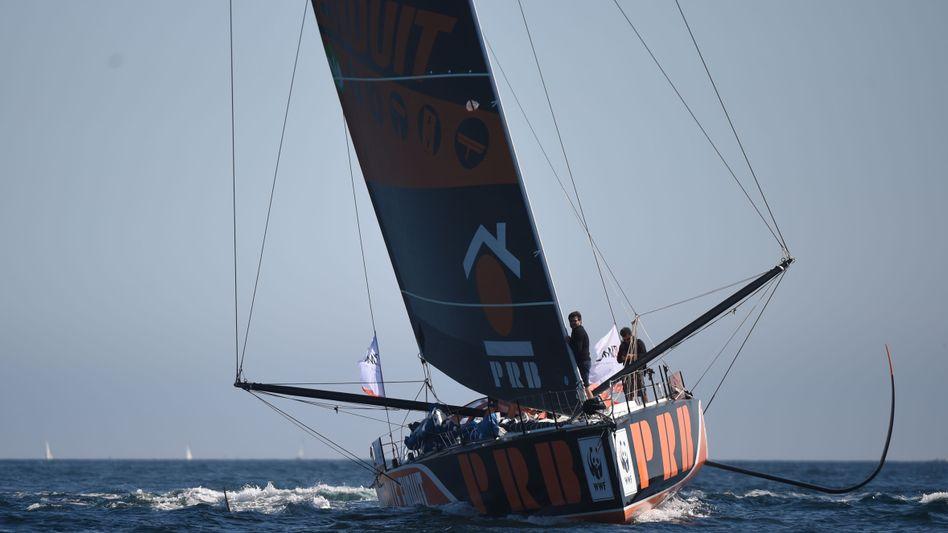 Escoffier in seinem Segelboot (Archivbild)