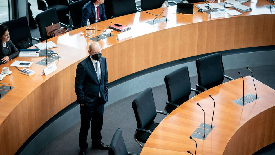 Olaf Scholz vor seiner Befragung im Wirecard-Untersuchungsausschuss