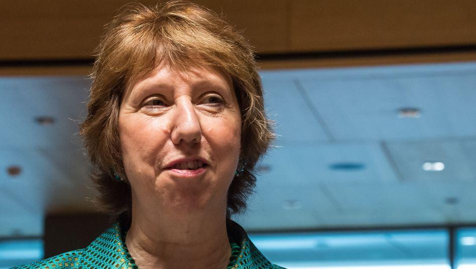 EU-Außenbeauftragte Ashton in Luxemburg: Sanktionsliste wird erweitert