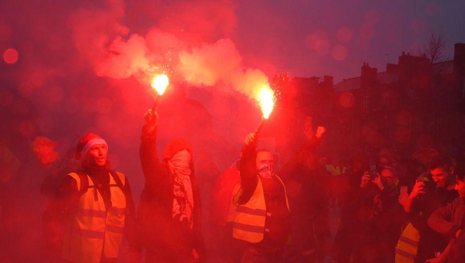 """Proteste der """"Gelbwesten"""" in Frankreich."""
