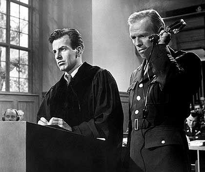 """""""Das Urteil von Nürnberg""""-Darsteller Maximilian Schell, Richard Widmark: Kritische Zwischentöne"""